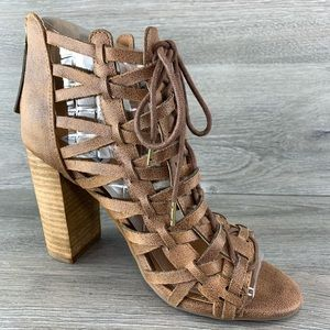 Not Rated Jacey Heeled Sandal (Tan)